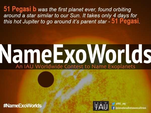 Et vous, quelle proposition allez-vous choisir pour nommer l'étoile 51 Pegasi et sa planète géante ? Votez sur le site NameExoWorlds. © Eso, L. Calçada