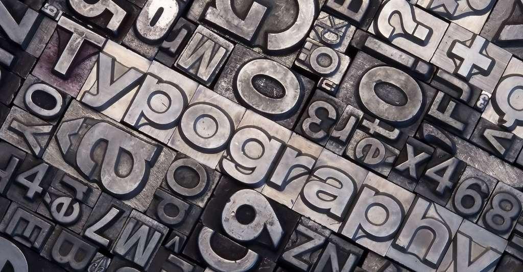 Typographie en plomb. © Svetlana67 - Fotolia