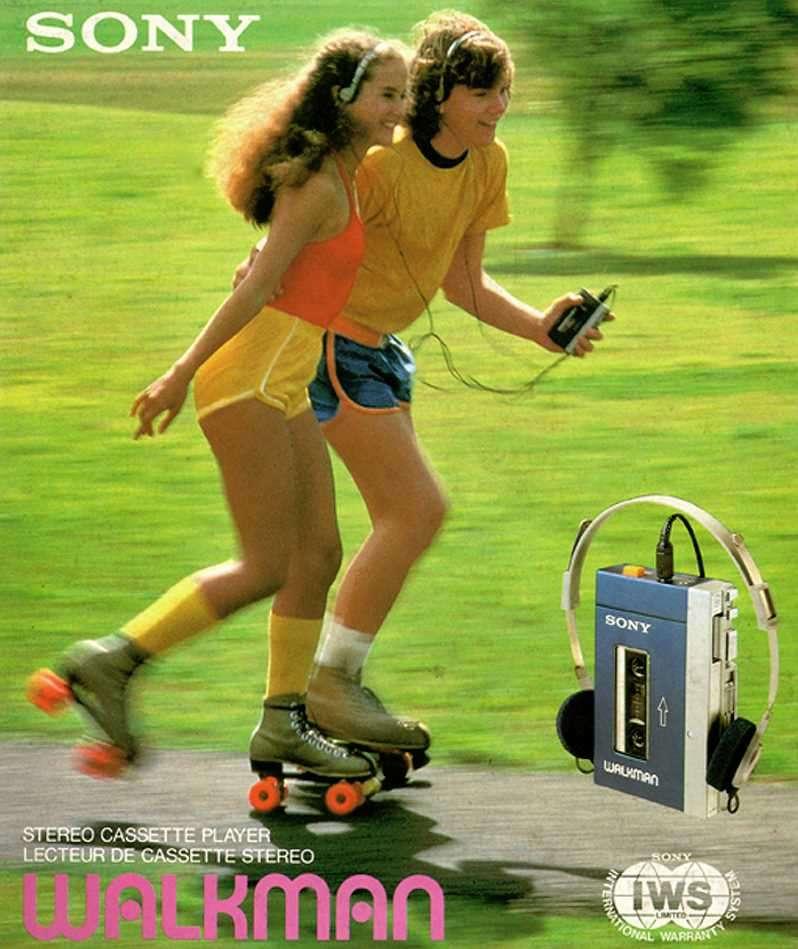 La boîte du premier « Walkman » commercialisé par Sony. © Sony