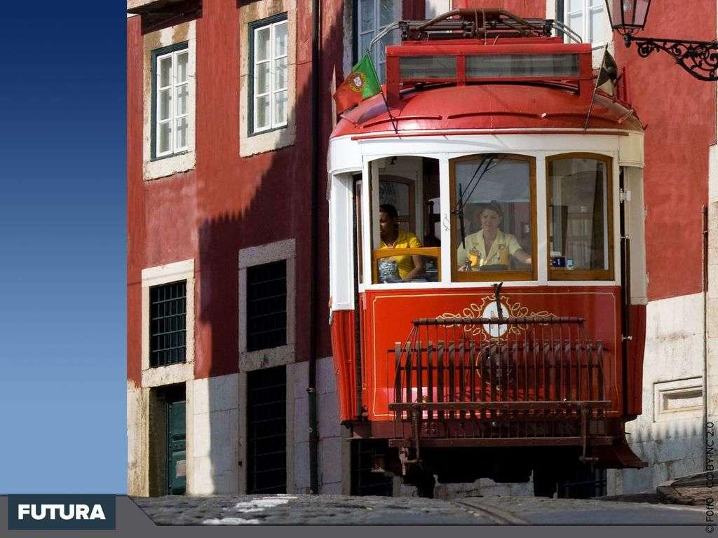 Tram à Lisbonne - Portugal