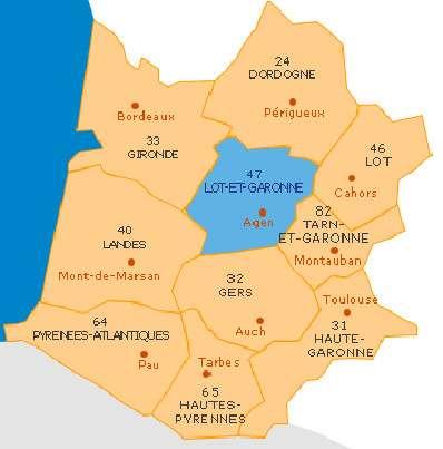 Carte du Lot-et-Garonne, un département surnommé « pays du bois ». © Conseil général du Lot-et-Garonne