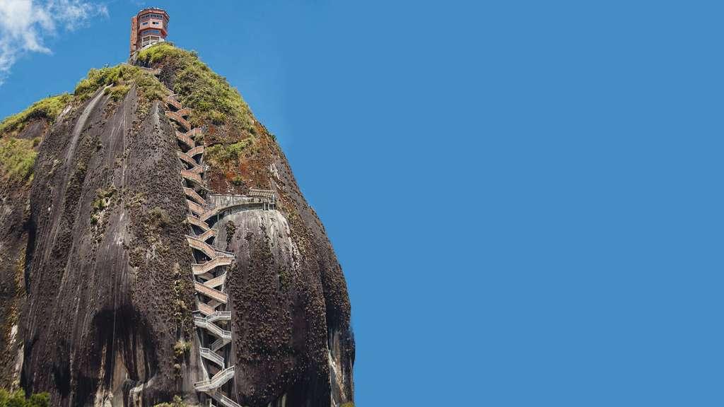 Le monolithe Peñón de Guatapé en Colombie