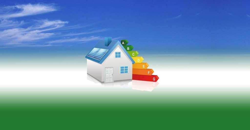 Maison écologique avec des panneaux solaires. © Bannosuke, Shutterstock
