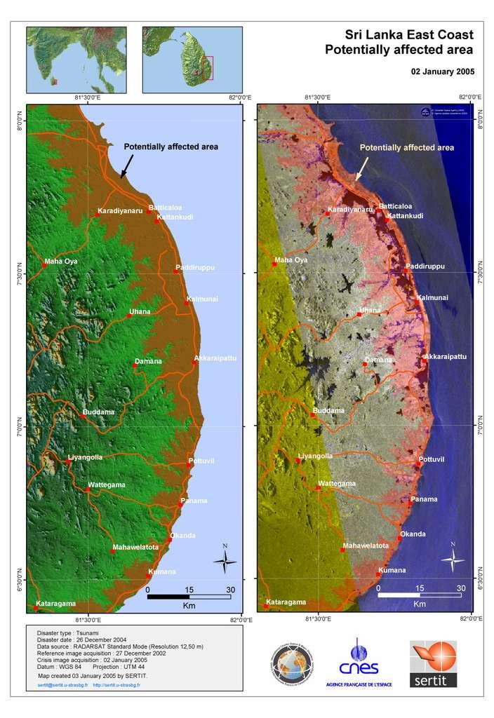 Côtes est du Sri Lanka