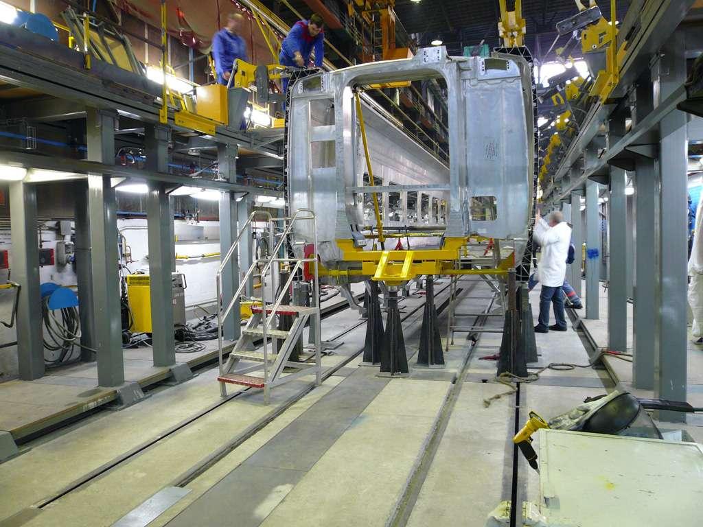 L'AGV en cours d'assemblage