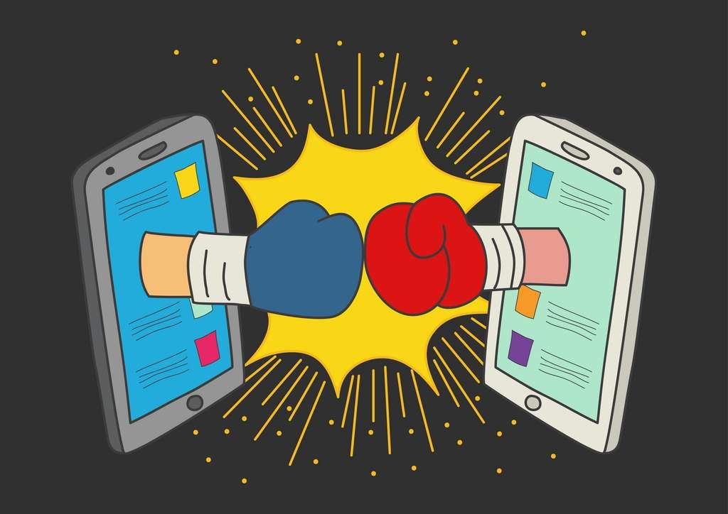 Critiquer ou se moquer sur les réseaux sociaux d'un adversaire politique augmente les chances de partage de la publication. © rudall30, Adobe Stock