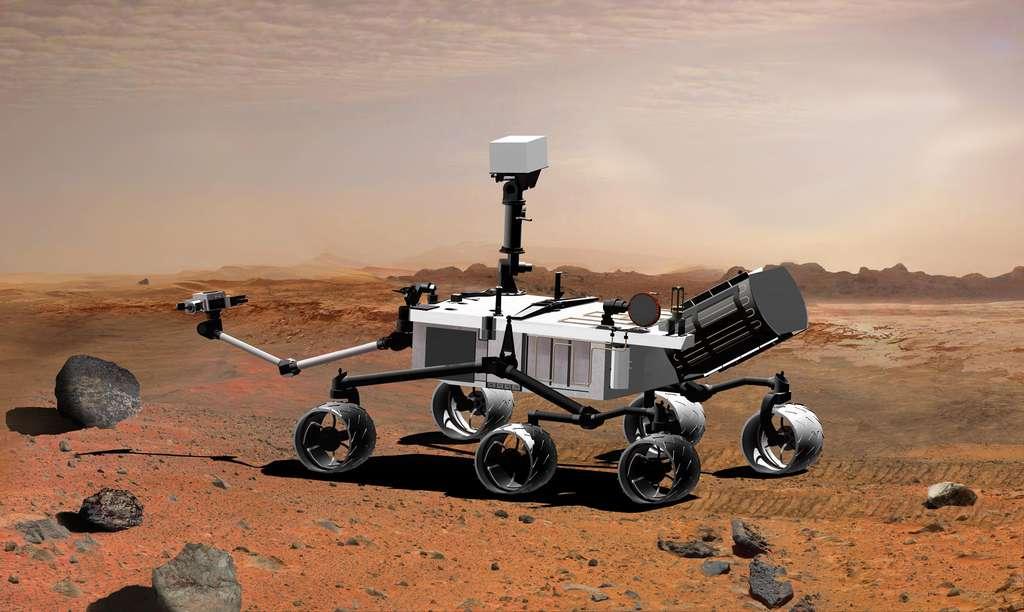 Le robot Curiosity, actuellement en route vers Mars et pesant près d'une tonne, commencera en août sa mission de géologue. © Mars