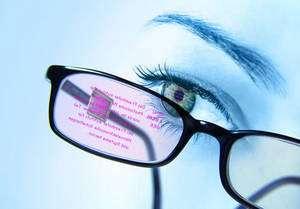 Les lunettes afficheur, également avec un circuit Oled, un autre projet de l'IPMS. © Fraunhofer Institute for Photonic Microsystems