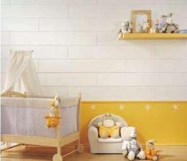 Le lambris PVC peut aussi décorer la chambre des enfants. © id maison
