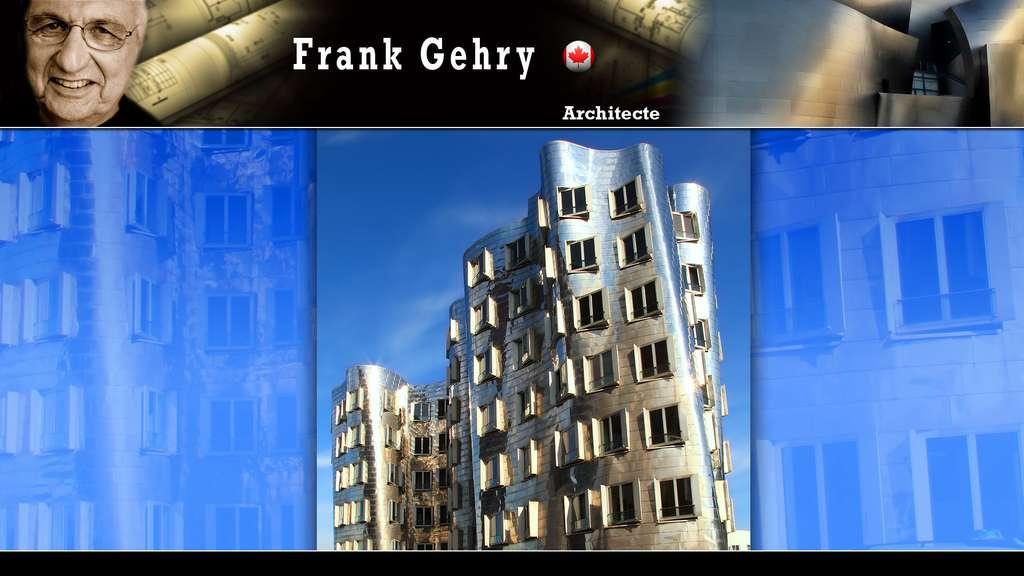 Le Neuer Zollhof à Düsseldorf, par Frank Gehry