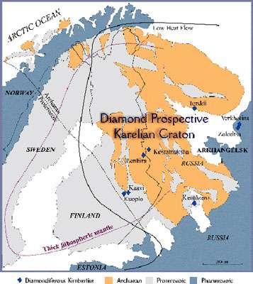 Carte de la région prospectée. © Geological Survey of Finland