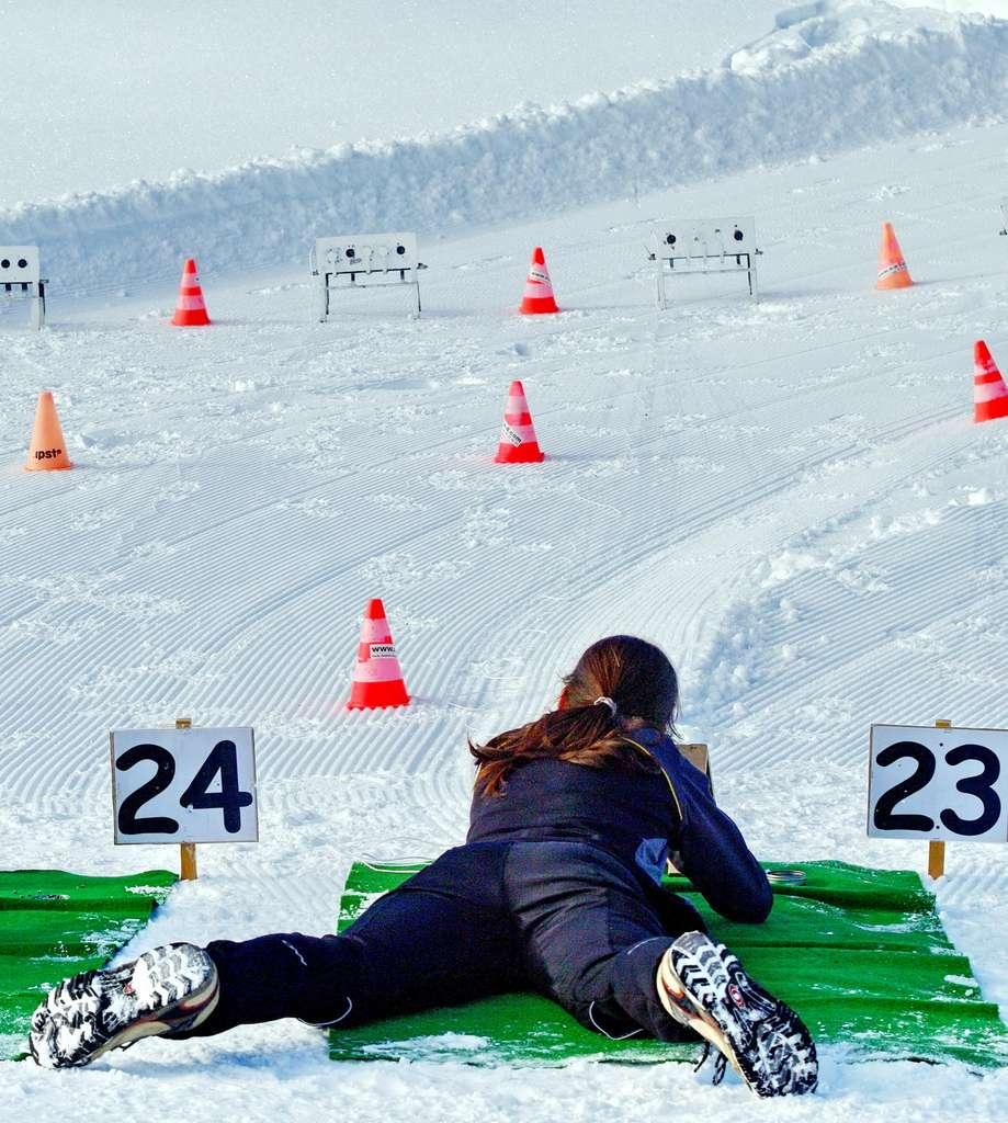 Au biathlon, le diamètre de la cible diffère selon la nature du tir. © savoieleysse, fotolia