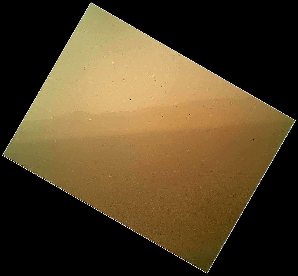 Première image couleur du paysage martien, envoyée par Curiosity le 6 août 2012. © Nasa/JPL-Caltech, Malin Space Science Systems