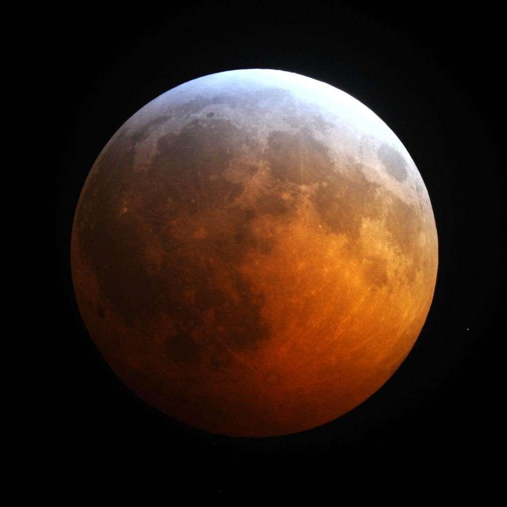 Une image de l'éclipse de Lune aux États-Unis (État de Géorgie). © J. Westlake