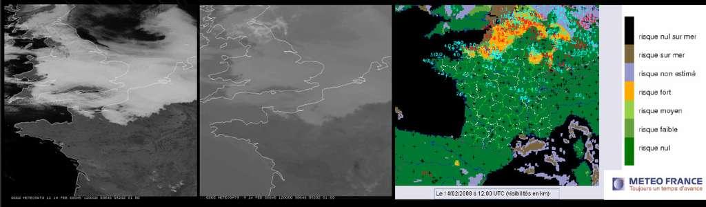Exemple de carte de prévisions météorologiques tracée à partir de données fournies par Meteosat. © Météo France/Eumetsat
