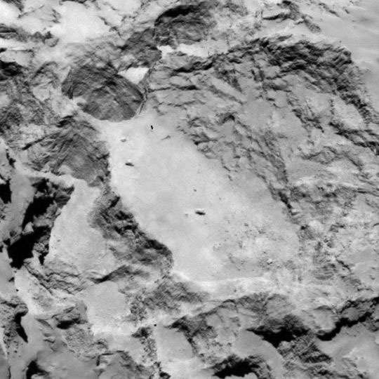 Le site A qui avait la préférence des scientifiques. © Esa/Rosetta/MPS for OSIRIS Team MPS/UPD/LAM/IAA/SSO/INTA/UPM/DASP/IDA
