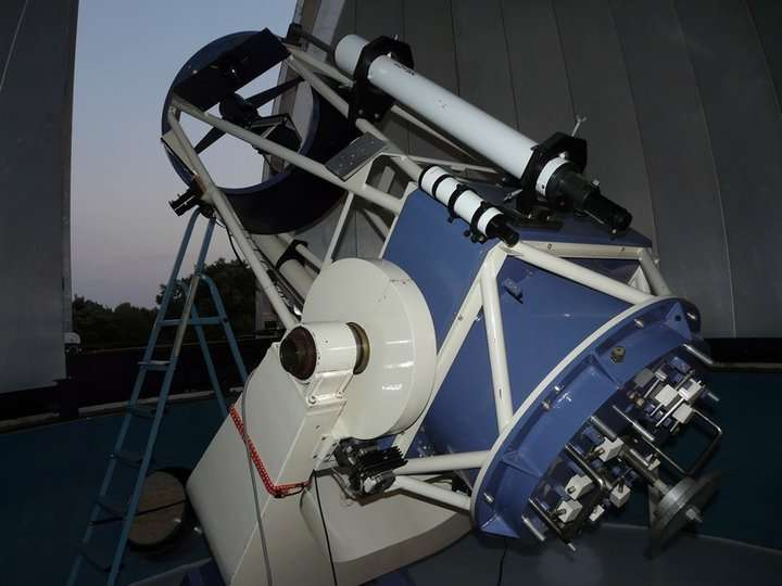 Télescope du centre d'astronomie de Saint-Michel-l'Observatoire