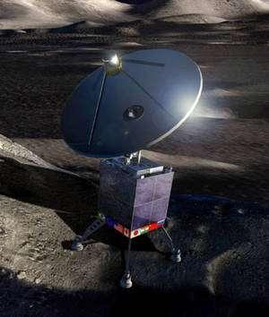 La face cachée de la Lune présente l'immense intérêt d'être protégée de la cacophonie de nos émissions radio. Un radiotélescope installé là-bas pourrait observer dans toutes les longueurs d'ondes radio presque sans restriction avec la clé des avancées scientifiques très importantes. Ici le concept de l'International Lunar Observatory. © ILO