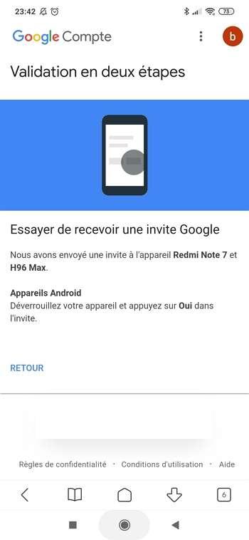 Google tente de vous envoyer une invite. © Google Inc.