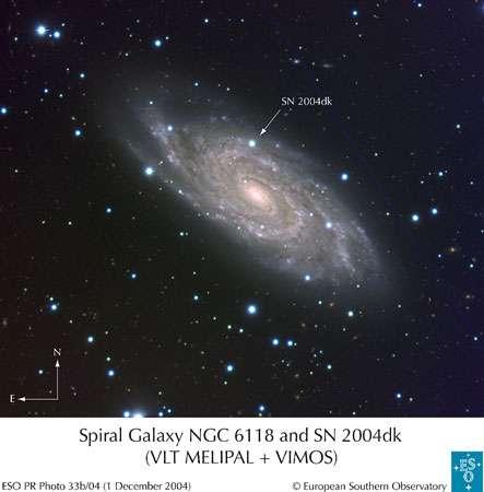 Les supernovae peuvent créer des éléments radioactifs