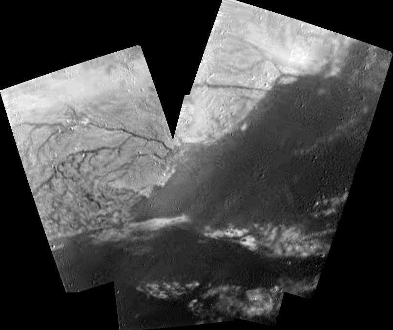 Titan : mosaïque du delta