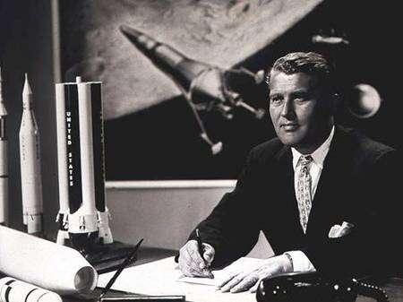 Wernher von Braun. Crédit Nasa