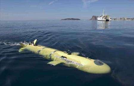 Une torpille de 4,5 mètres au service de l'océanographie : l'Aster X, utilisé par l'Ifremer. © Ifremer