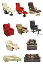 Les canapés et les fauteuils de relaxation suspectés d'être allergisants. Photo publiée par Conforama.