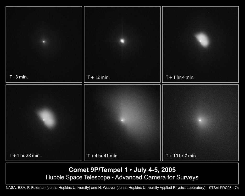 Hubble suit l'évolution de Tempel-1