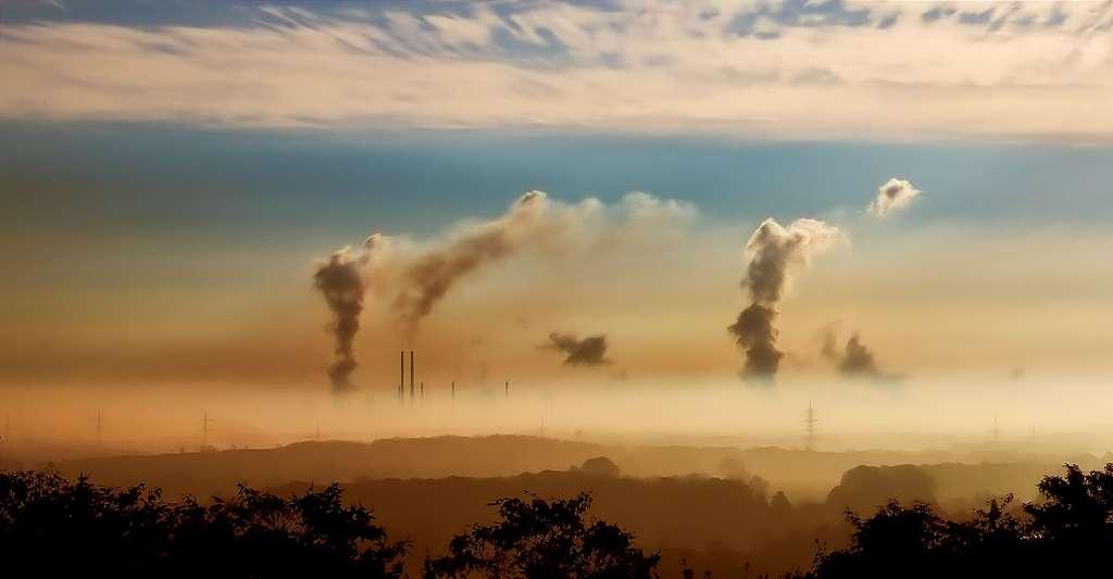 Le gaz carbonique qui s'échappe des villes. © Foto-Rabe, Pixabay, DP