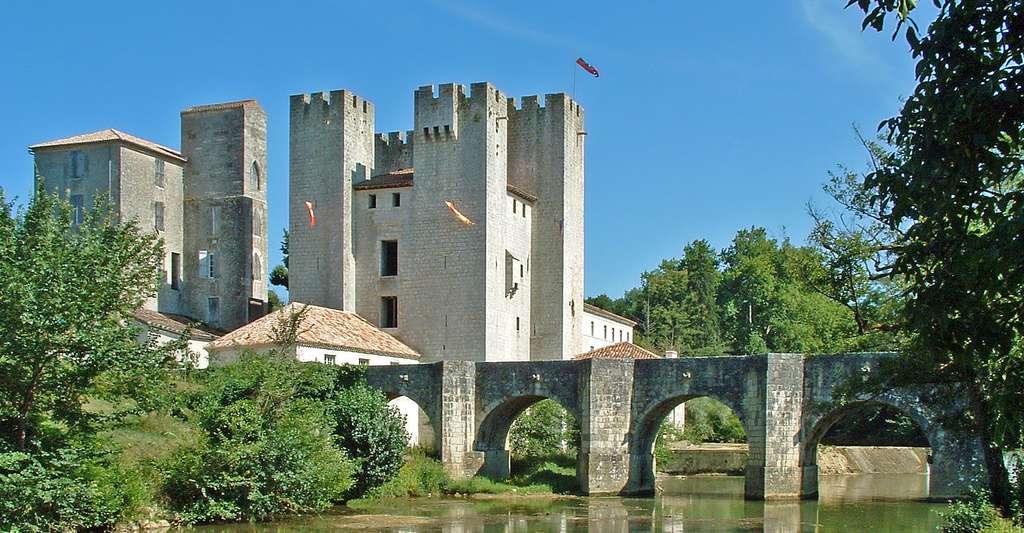 Nérac : Pont de Barbaste et le moulin fortifié d'Henri IV. © Jacques Mossot, Wikimedia commons, CC by-sa 3.0