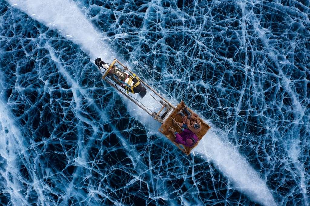 Rivière gelée, Russie. © Alessandra Meniconzi, Drone Photo Awards
