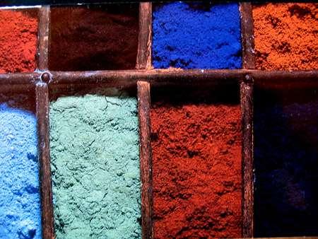 Différents pigments. © DR