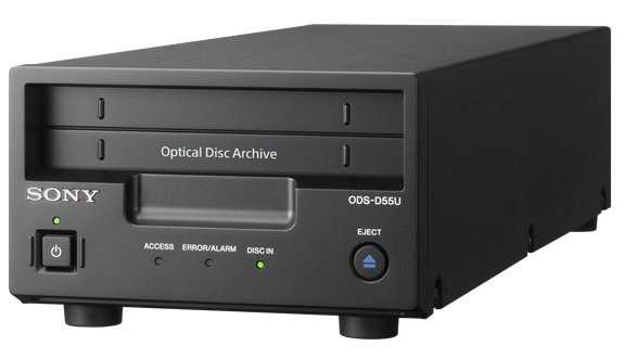 L'ODS-D55U permettrait de stocker de 300 Go à 1,5 To de données sur une seule cartouche comportant 12 disques Blu-ray. © Sony