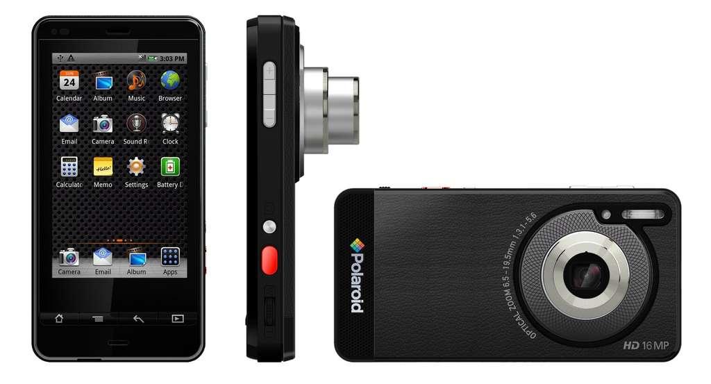 Polaroid est le premier constructeur à tenter la greffe Android sur un appareil photo qui fera aussi office de téléphone. La différence avec une smartphone ne sera-t-elle pas trop ténue ? © Polaroid