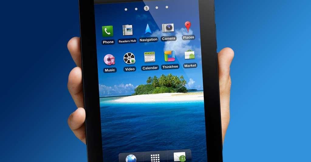 La Galaxy Tab de Samsung tient dans la main. © Samsung