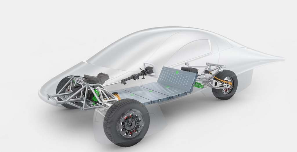 L'Aptera devrait recevoir une transmission intégrale. © Aptera Motors