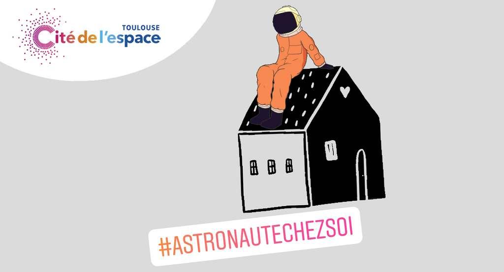 Aujourd'hui, nous vivons tous un peu comme un astronaute confiné à bord de la Station spatiale internationale (ISS). © Cité de l'espace