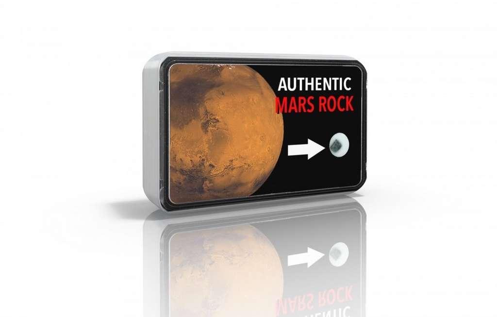 Un morceau de météorite martienne, 29,90 euros chez Météorites & Bijoux