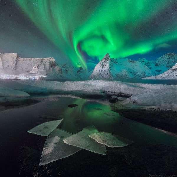 Aurore boréale au Groenland. © Daniel Kordan, tous droits réservés