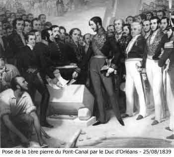 En 1839, la construction du canal latéral à la Garonne est reprise, elle sera terminée en 1856. © Domaine public