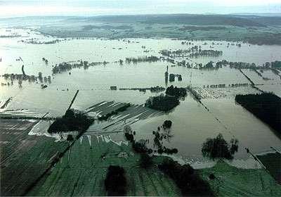 Les inondations de la Meuse, le 31 janvier 1995. (crédit : SERTIT)