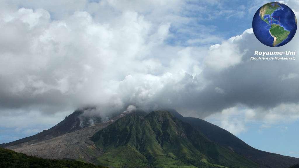 La Soufrière de Montserrat, aux Antilles