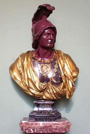 Alexandre le Grand. Porphyre rouge. © Musée national des châteaux de Versailles et de Trianon