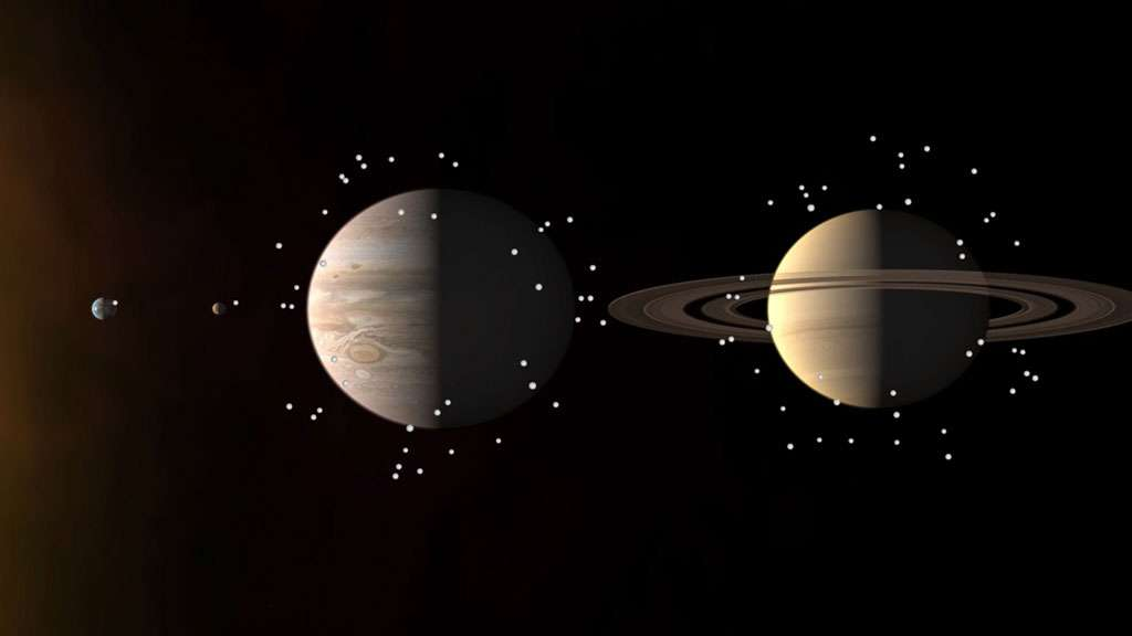 Les lunes des planètes géantes du Système solaire