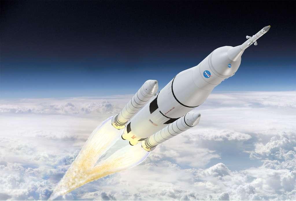 En laissant au secteur privé les opérations de fret et de transport d'astronautes à destination de l'ISS, la Nasa peut concentrer ses efforts sur un nouveau système de transport spatial dont l'objectif est d'amener des Hommes sur un astéroïde et sur Mars. © Boeing