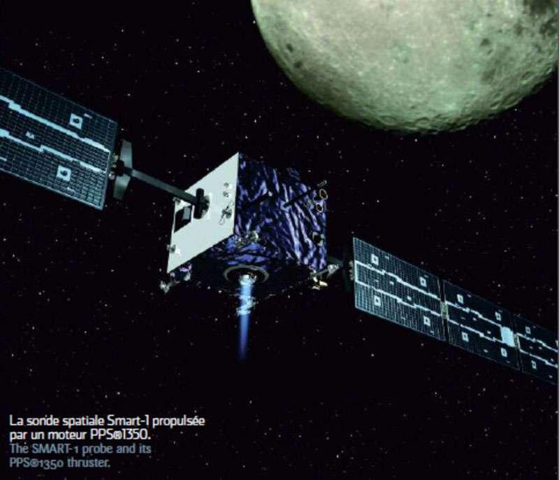 La sonde spatiale Smart-1 fonctionnait à l'aide de la propulsion électrique. © Cnes