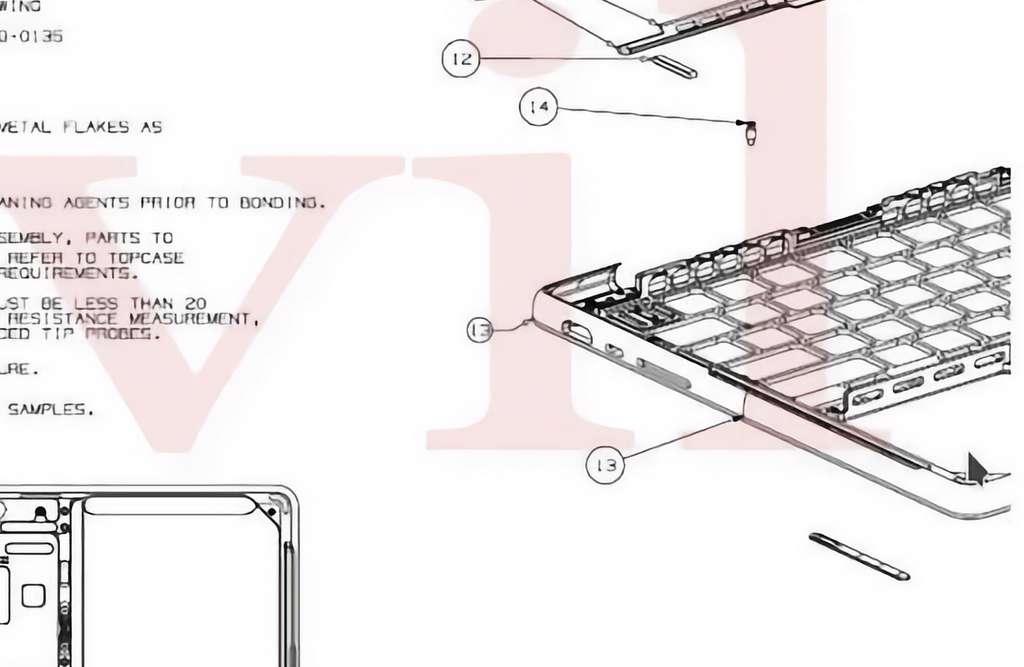 On distingue bien trois connecteurs, dont le lecteur de cartes SD, sur ce croquis. © Revil