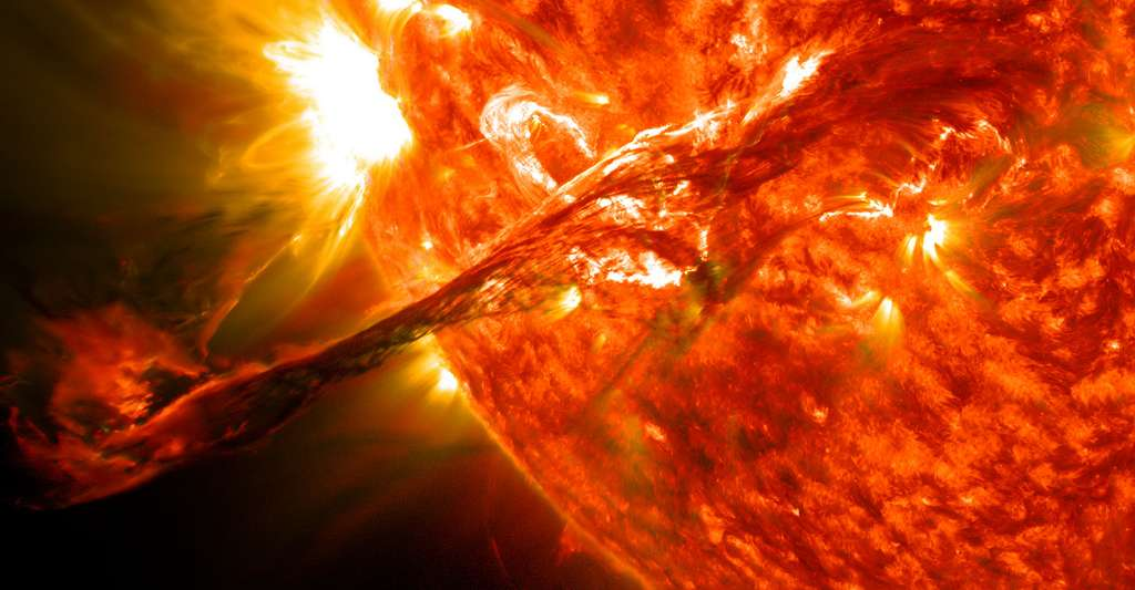 Filament solaire géant. © NASA Goddard Space Flight Center, CC BY 2.0