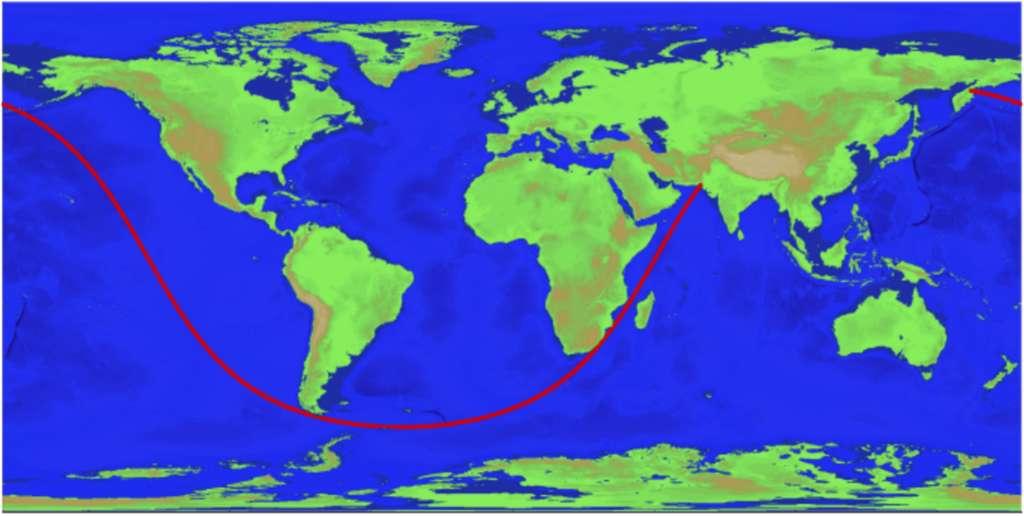 La plus longue distance possible en ligne droite sur mer. © Rohan Chabukswar, Kushal Mukherjee, Arvix